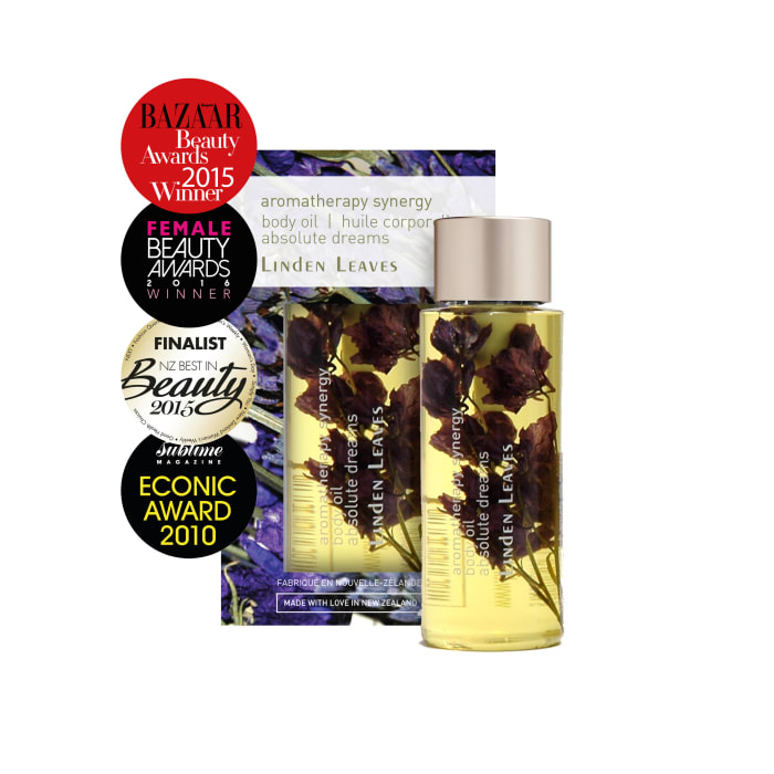 Linden Leaves_Aromatherapy Synergy_Absolute Dreams_Body Oil_60ml_ASHOAD_Award